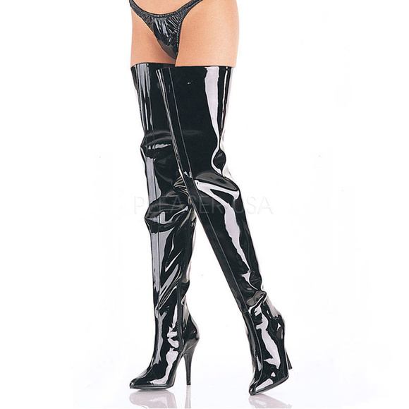 Wide Top Thigh Crotch High Heel Boots NWT
